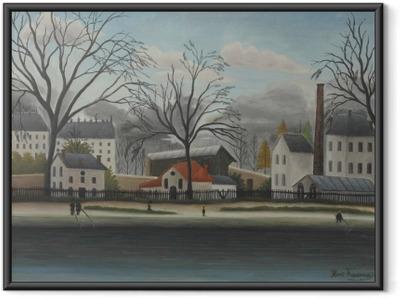 Henri Rousseau - Suburban Scene Framed Poster