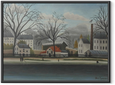 Póster Enmarcado Henri Rousseau - Escena suburbana