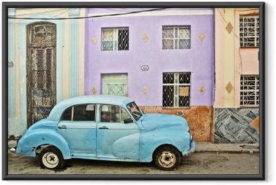 Póster Enmarcado Cuba, La Habana, Coche analizado la vendimia