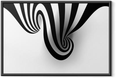 Poster en cadre Résumé spirale avec un espace vide