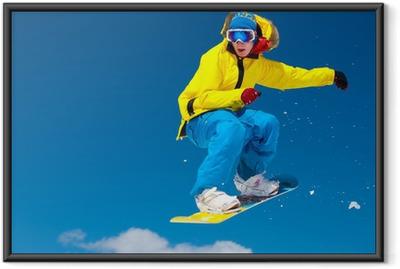 Poster en cadre Snowboarder