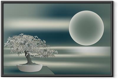 Gerahmtes Poster Japanischer Ahorn Bonsai