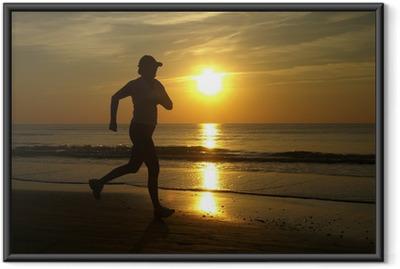 Poster en cadre Running woman - Thèmes