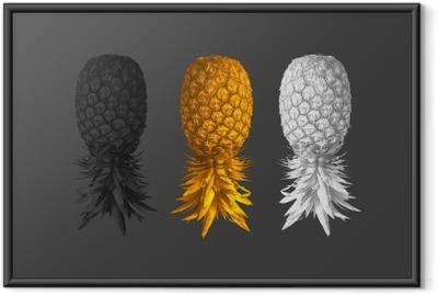 Poster in Cornice Sfondo astratto con ananas
