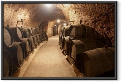 Gerahmtes Poster Corridor im Weingut