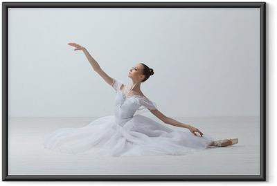 Gerahmtes Poster Balletteuse