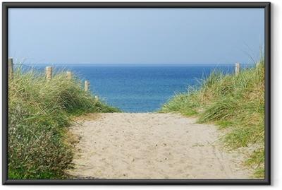 Ingelijste Poster Düne am Meer - Duin op de Ocean