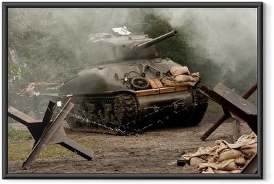 Gerahmtes Poster Sherman Tank - WW II