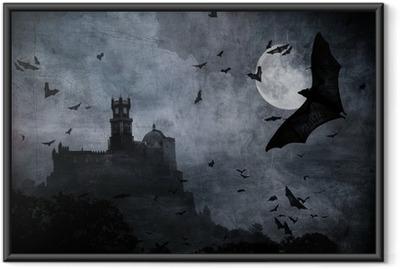 Poster i Ram Halloween bakgrund