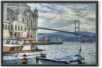 Jossa kaksi maanosaa tapaa: istanbul Kehystetty juliste