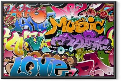 Plakat w ramie Graffiti bezszwowe tło. hip-hop sztuki