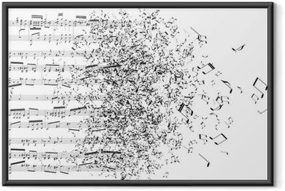 music notes dancing away Framed Poster