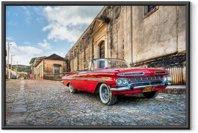 Red Chevrolet Indrammet plakat