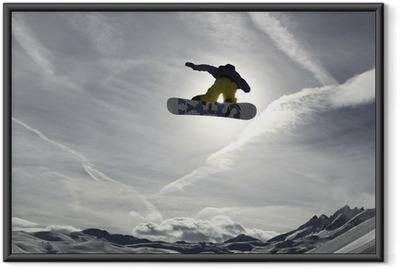 Ingelijste Poster Snowboard