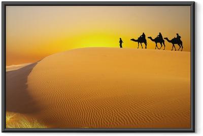Poster in Cornice Viaggiare con cammello
