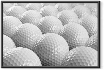 Póster com Moldura Golf balls