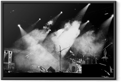 Stage In Lights - Black and White Framed Poster