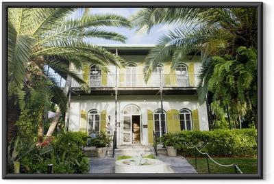 Ingelijste Poster Hemingway House, Key West, Florida, Verenigde Staten