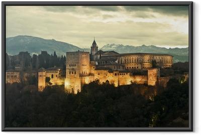 Poster en cadre Alhambra Palace au crépuscule