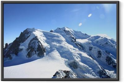 Ingelijste Poster Mont blanc