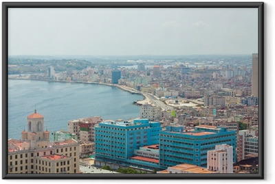 Gerahmtes Poster Luftaufnahme des Havana Ufer