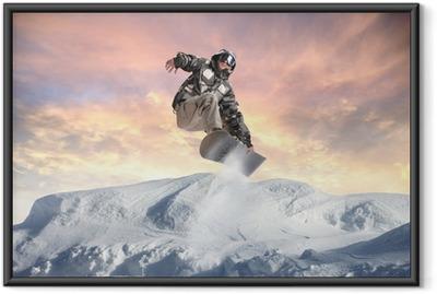 Ingelijste Poster Winter acrobatiek
