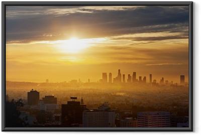 Ingelijste Poster Los Angeles zonsopgang
