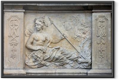 Gerahmtes Poster Athena Relief in Danzig