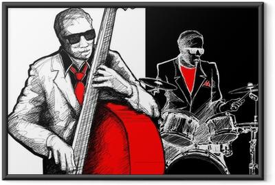 Ingelijste Poster Jazzband