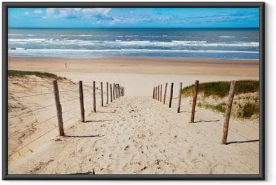 Ingelijste Poster Weg naar het strand