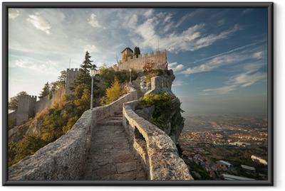 Gerahmtes Poster Rocca della Guaita Castle in San Marino