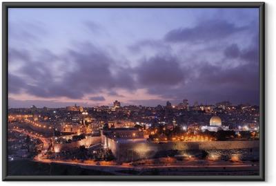 Ingelijste Poster De Horizon van Jeruzalem