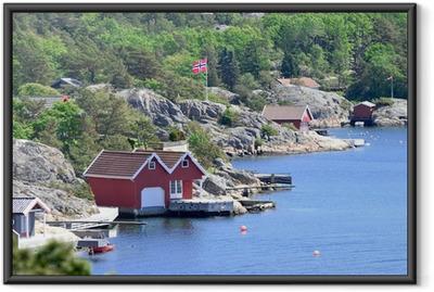 Gerahmtes Poster Skandinavische Küstenlandschaft