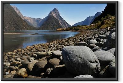 Gerahmtes Poster Neuseeland Fiordland