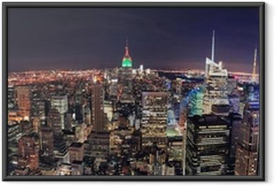 Plakat w ramie New York City Manhattan skyline panorama aerial