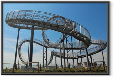 tiger and turtle ruhrpott Framed Poster