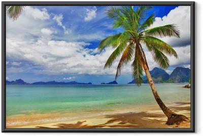 Gerahmtes Poster Entspannende Tropenlandschaft
