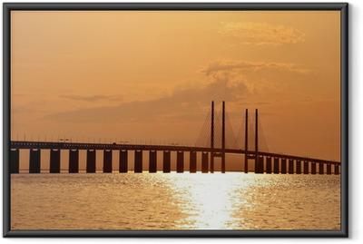 Sunset @ Oresund Bridge Indrammet plakat