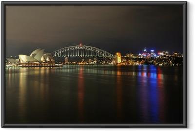 Poster en cadre Sydney port de nuit
