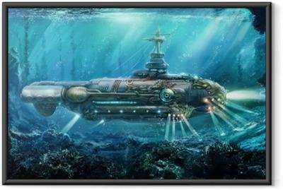 Póster Enmarcado Fantástico submarino
