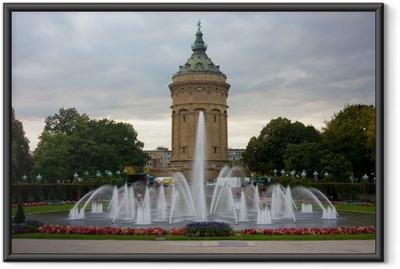 Gerahmtes Poster Wasserturm Mannheim