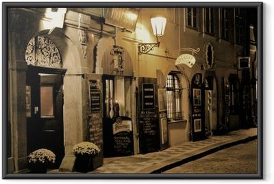 Ingelijste Poster Romantisch diner in Praag