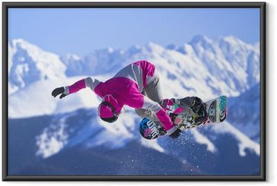 Poster en cadre Snowboard
