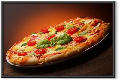 Gerahmtes Poster Pizza