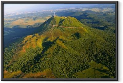 Puy de dome et parc des volcans d'Auvergne Framed Poster