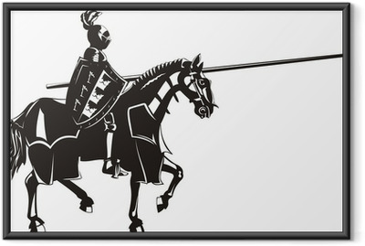 Gerahmtes Poster Medieval Knight