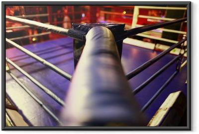 Ingelijste Poster Lege boksring abstractie
