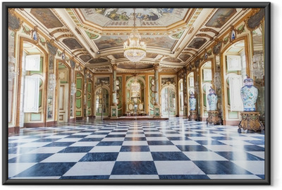 Hall of Ambassadors in Queluz National Palace, Portugal Framed Poster