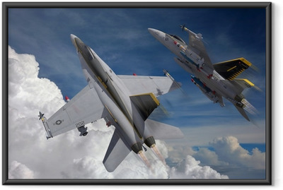 Gerahmtes Poster Jets in den Himmel