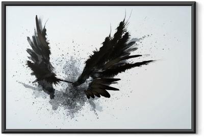 Plakat w ramie Czarne skrzydła